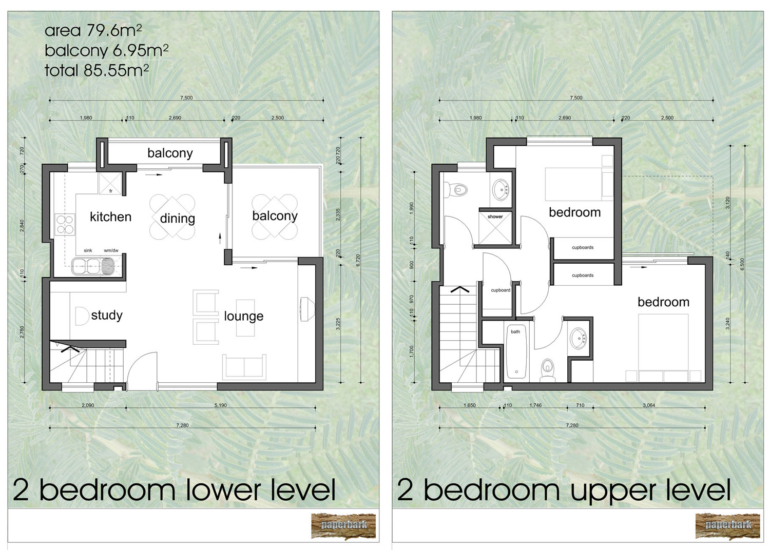 Paperbark unit plans for 4 bedroom house with loft